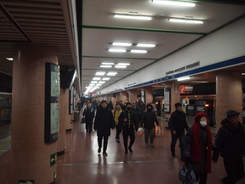〔中国〕北京地下鉄2号線 北京駅